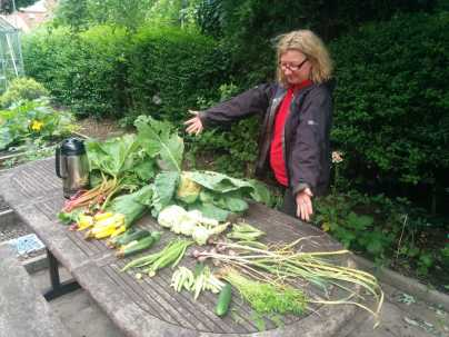 Geraldine admires this week's produce